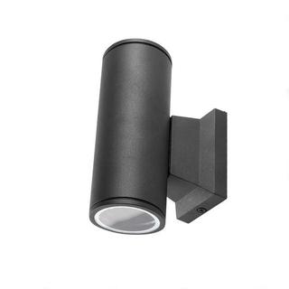 Seinävalaisin musta, GU10, kahdelle lampulle,IP65
