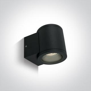 Seinävalaisin, musta, GU10, IP54