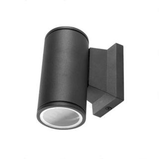 Seinävalaisin musta, GU10, IP65