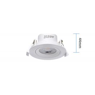 Upotettava LED-kohdevalaisin 5W lämminvalkoinen 3000K