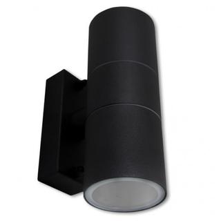 Seinävalaisin, musta, GU10, IP44