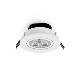 Upotettava LED-kohdevalaisin 3W, himmennettävä, lämminvalkoinen 2700K