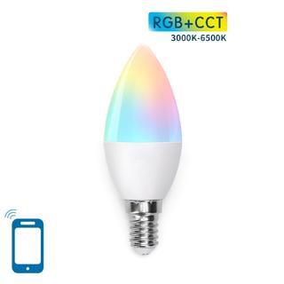 E14 C37 7W WIFI RGB+CCT