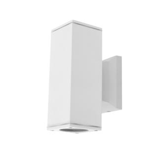 Seinävalaisin valkoinen, GU10, kahdelle lampulle, IP65